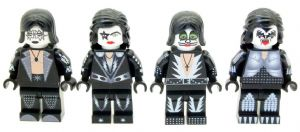 Kiss Rock Band Members - Custom Designed Minfigures